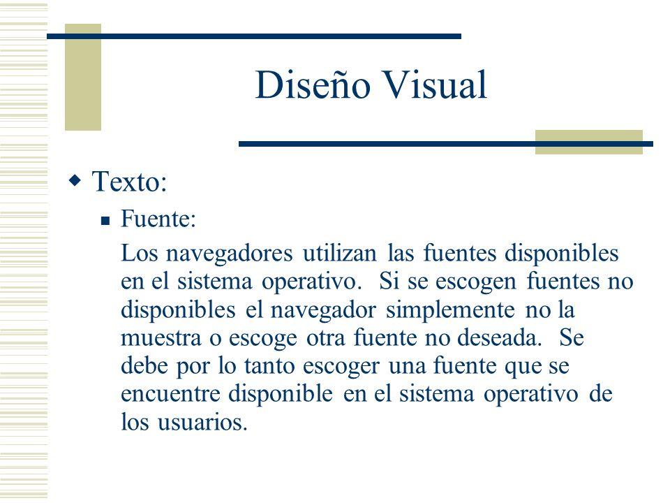 Diseño Visual Texto: Fuente: