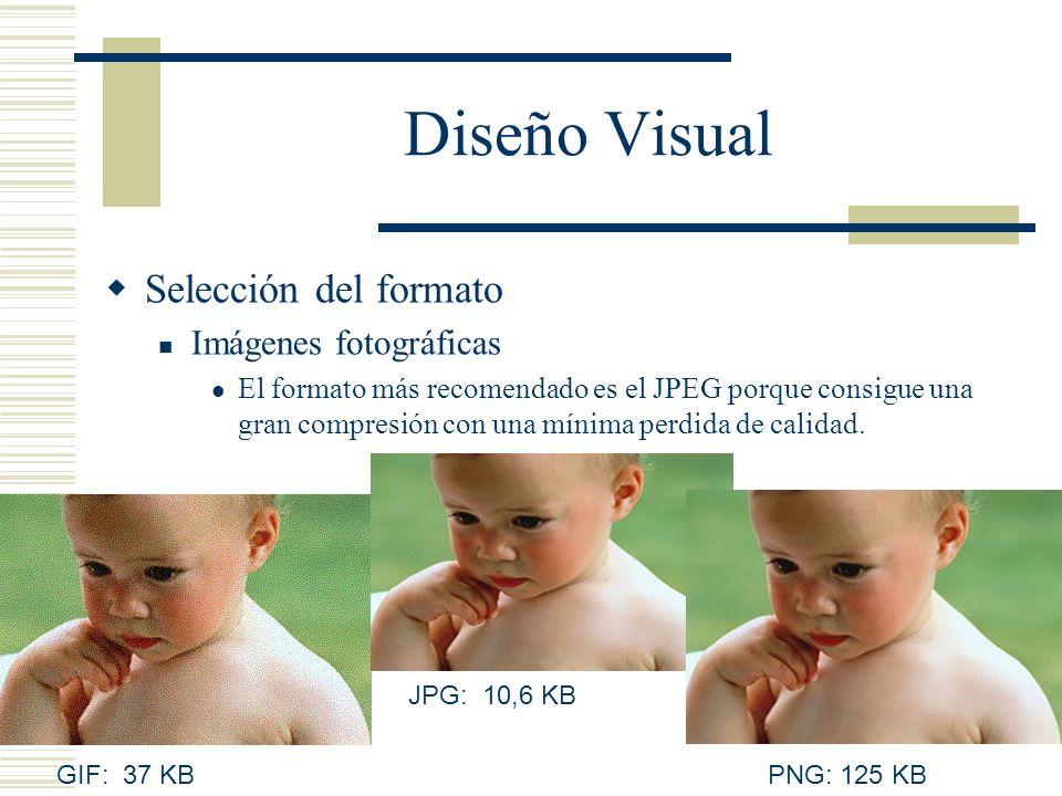 Diseño Visual Selección del formato Imágenes fotográficas