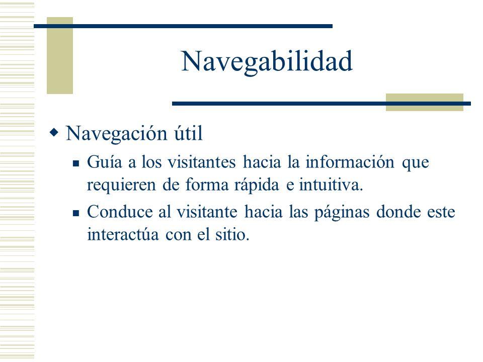 Navegabilidad Navegación útil