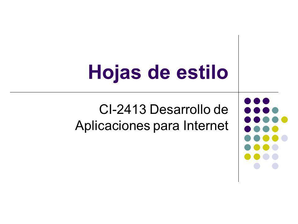 CI-2413 Desarrollo de Aplicaciones para Internet