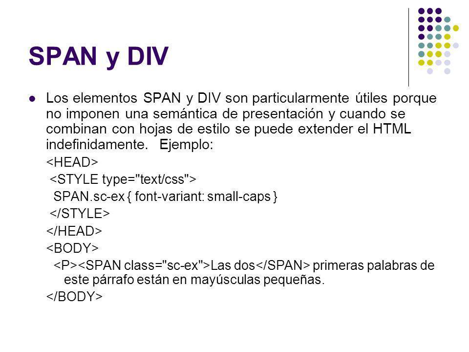 SPAN y DIV