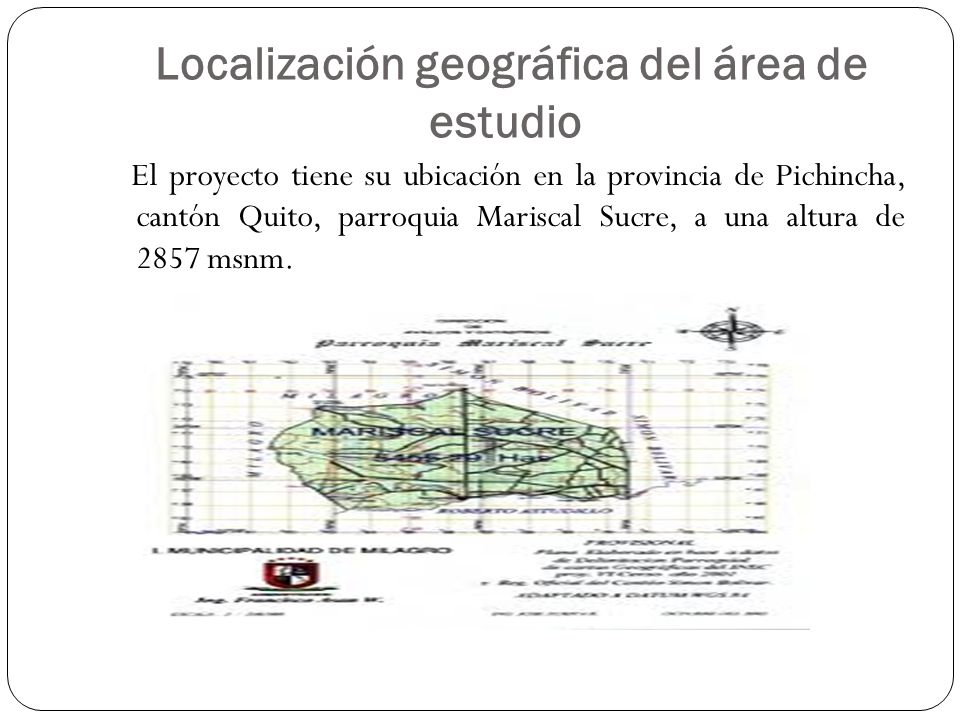 Localización geográfica del área de estudio