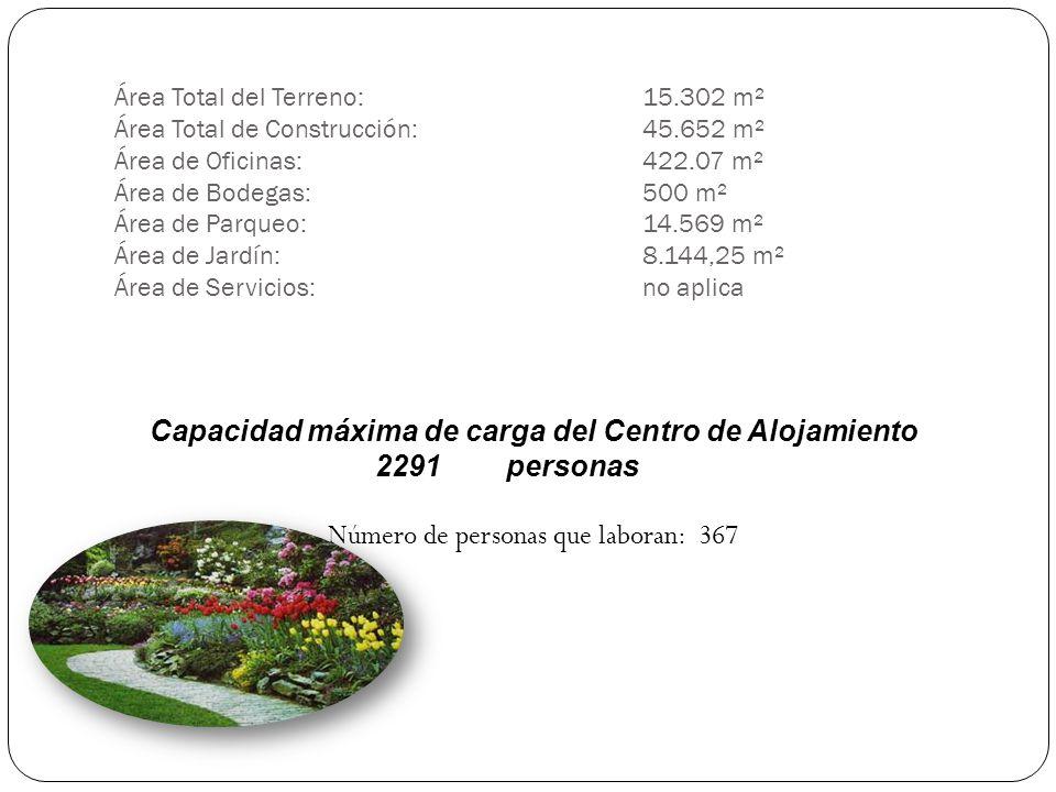 Área Total del Terreno:. 15. 302 m² Área Total de Construcción:. 45