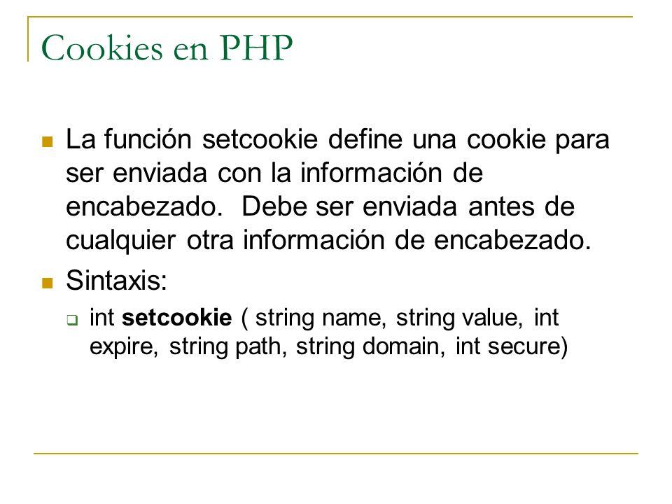 Cookies en PHP