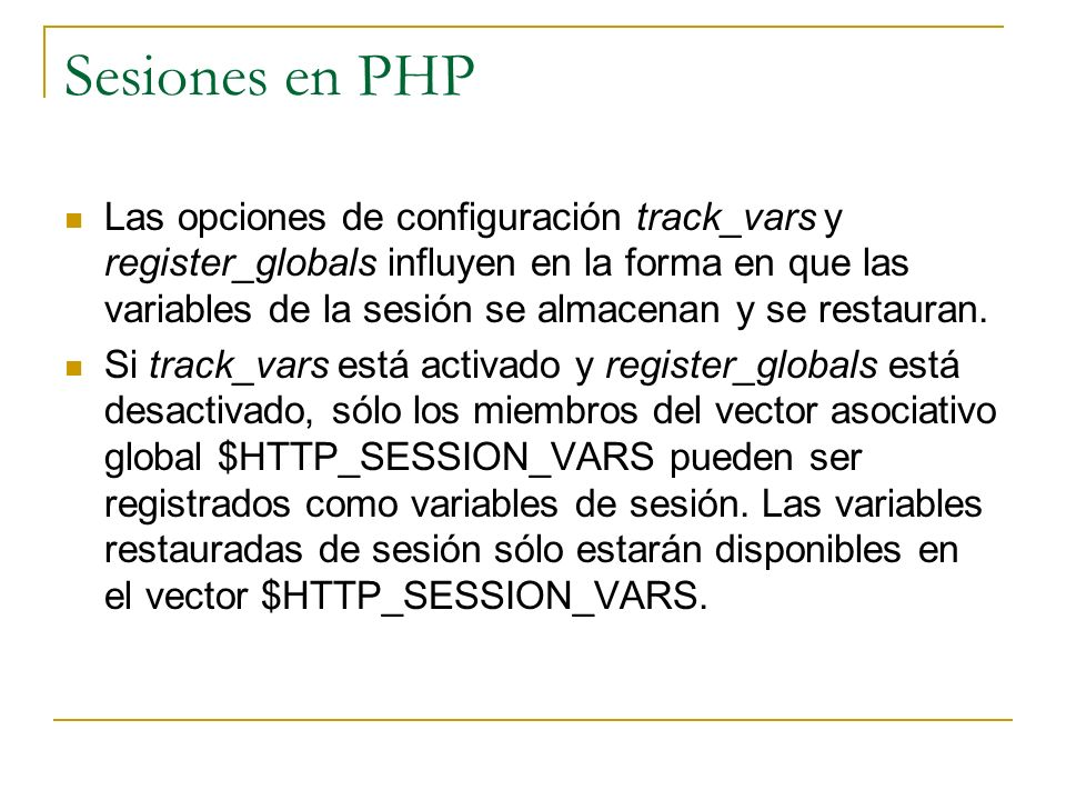 Sesiones en PHP