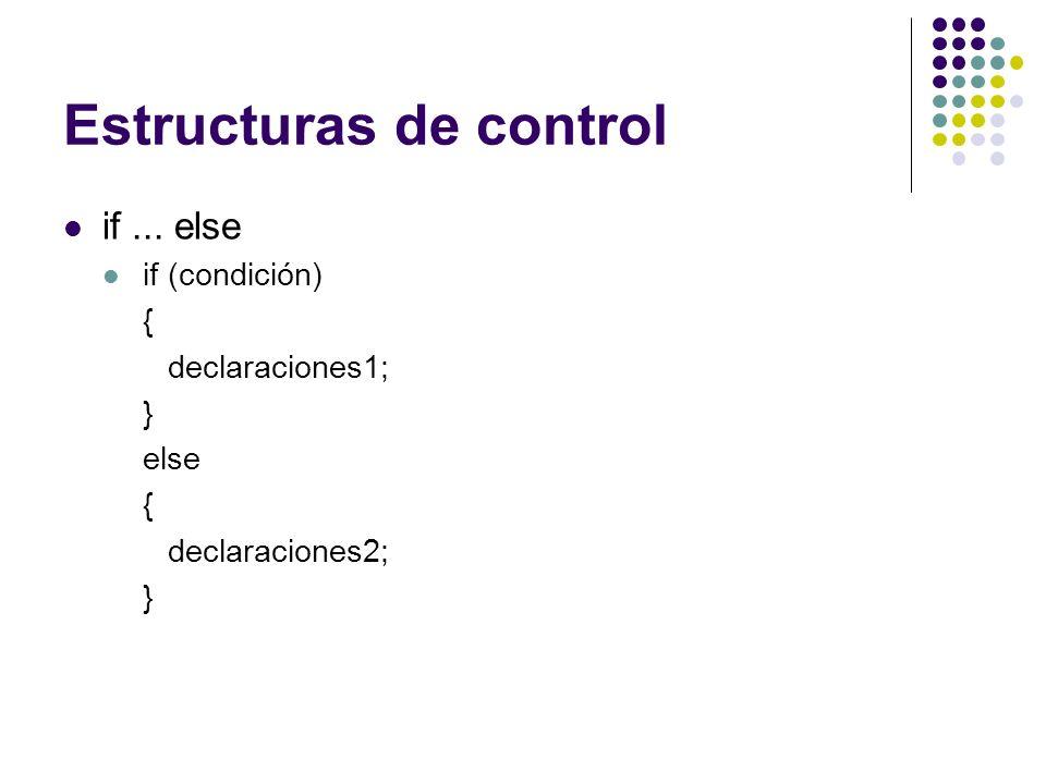 Estructuras de control