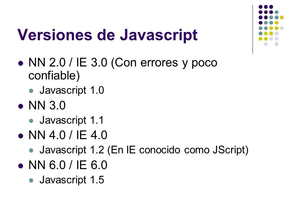 Versiones de Javascript
