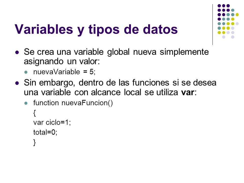 Variables y tipos de datos