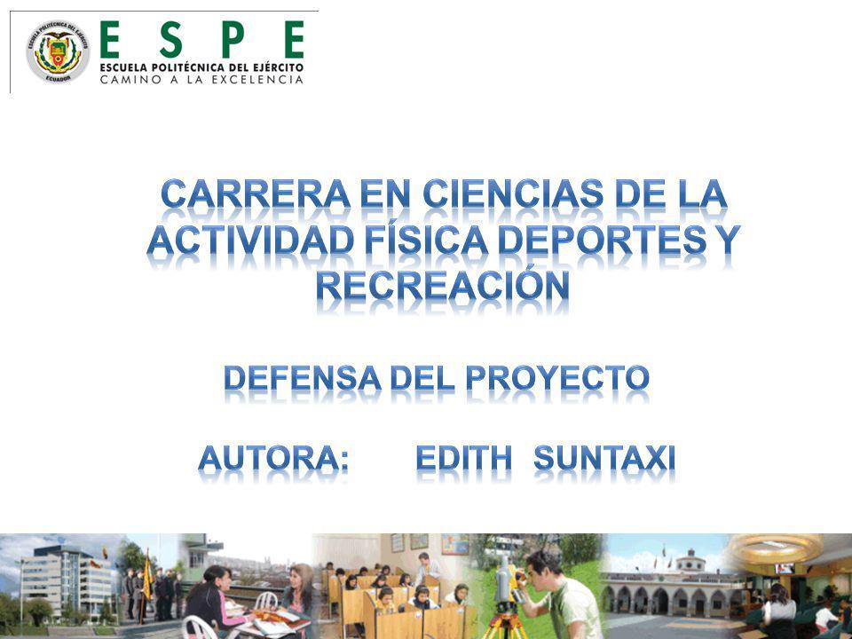 CARRERA EN CIENCIAS DE LA ACTIVIDAD FÍSICA DEPORTES Y RECREACIÓN
