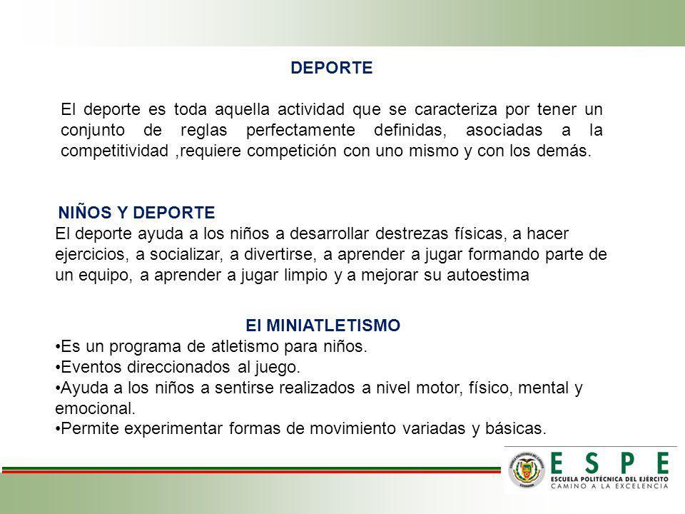 DEPORTE El MINIATLETISMO