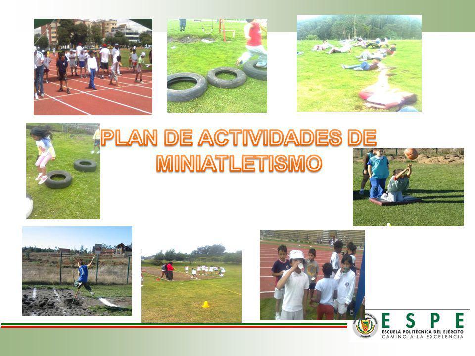 PLAN DE ACTIVIDADES DE MINIATLETISMO
