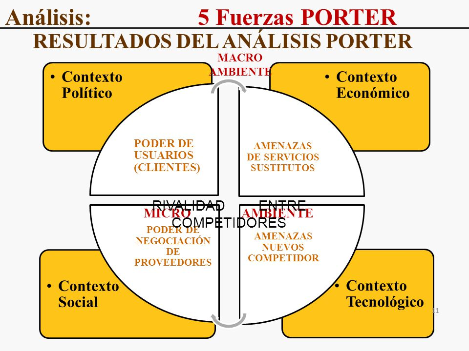 RESULTADOS DEL ANÁLISIS PORTER