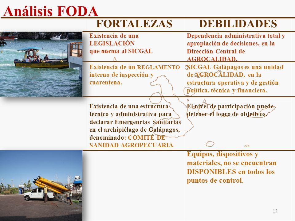 Análisis FODA FORTALEZAS DEBILIDADES