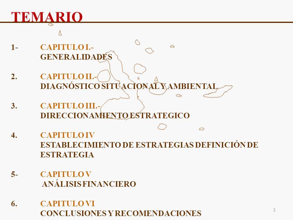 TEMARIO 1- CAPITULO I.- GENERALIDADES 2. CAPITULO II.-