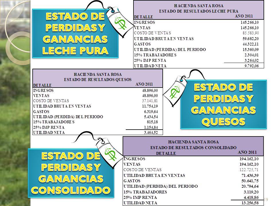 ESTADO DE PERDIDAS Y GANANCIAS LECHE PURA