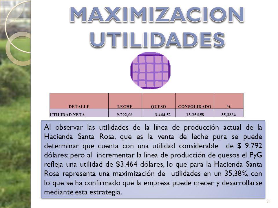 MAXIMIZACION UTILIDADES