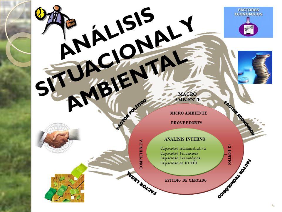ANÁLISIS SITUACIONAL Y AMBIENTAL