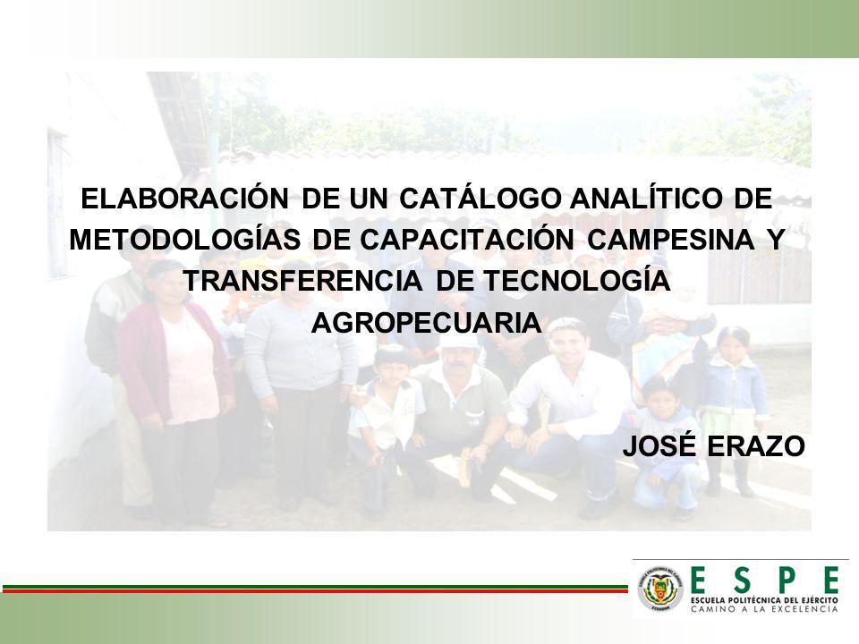 ELABORACIÓN DE UN CATÁLOGO ANALÍTICO DE