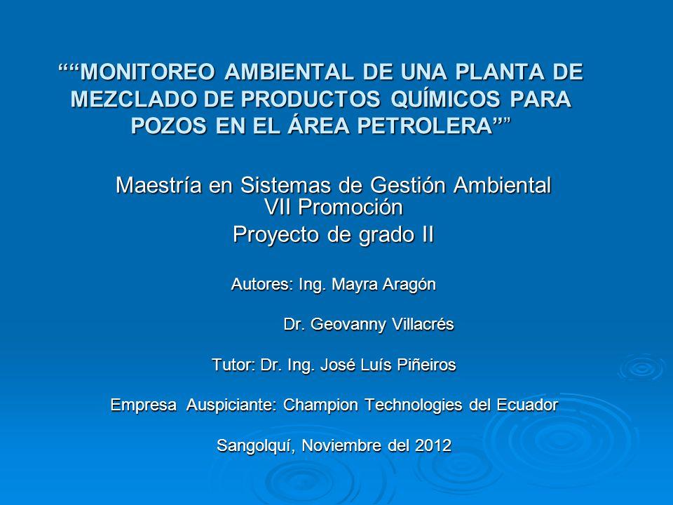 Maestría en Sistemas de Gestión Ambiental VII Promoción