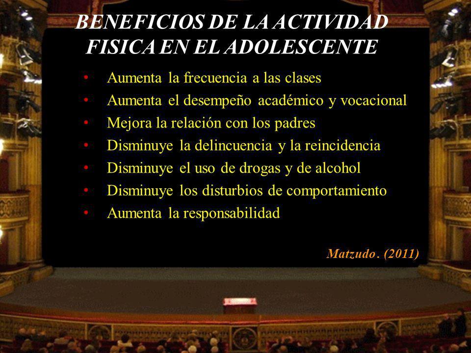 BENEFICIOS DE LA ACTIVIDAD FISICA EN EL ADOLESCENTE