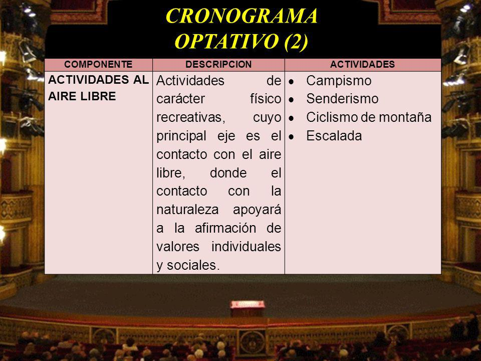 CRONOGRAMA OPTATIVO (2)