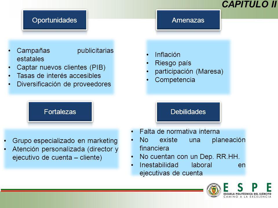 CAPITULO II Oportunidades Amenazas Campañas publicitarias estatales