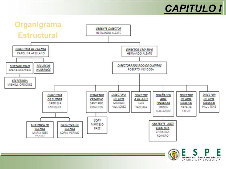 CAPITULO I Organigrama Estructural