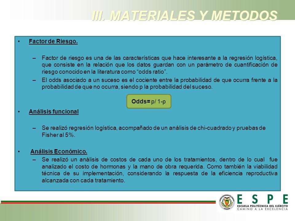 III. MATERIALES Y METODOS