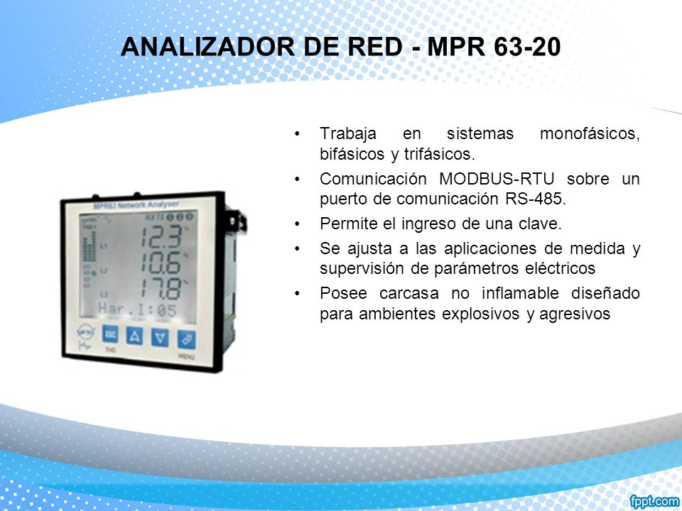 ANALIZADOR DE RED - MPR 63-20