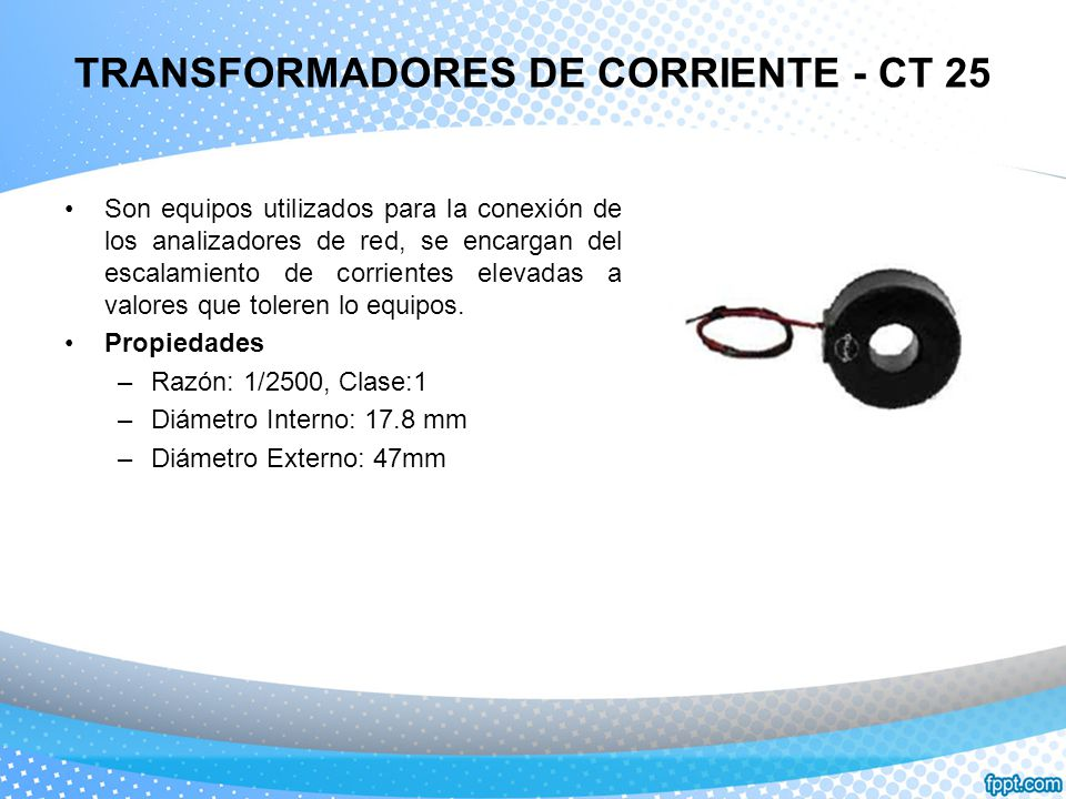TRANSFORMADORES DE CORRIENTE - CT 25