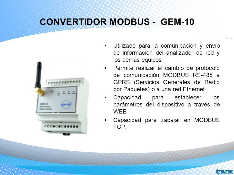 CONVERTIDOR MODBUS - GEM-10