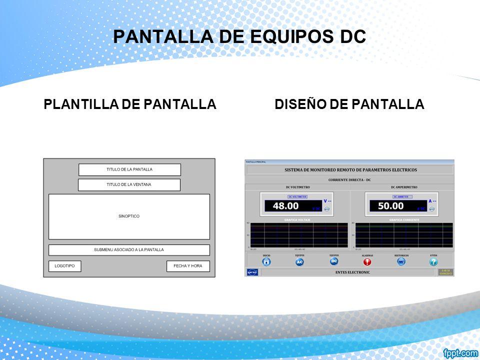 PANTALLA DE EQUIPOS DC PLANTILLA DE PANTALLA DISEÑO DE PANTALLA