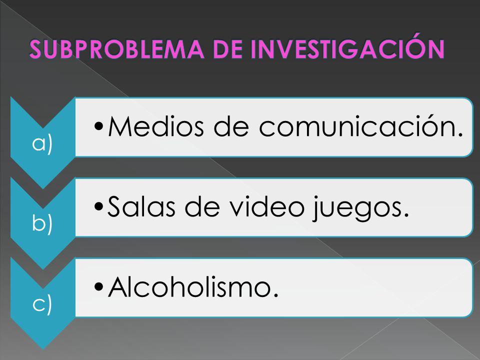 SUBPROBLEMA DE INVESTIGACIÓN