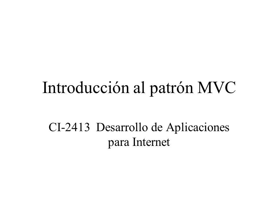 Introducción al patrón MVC