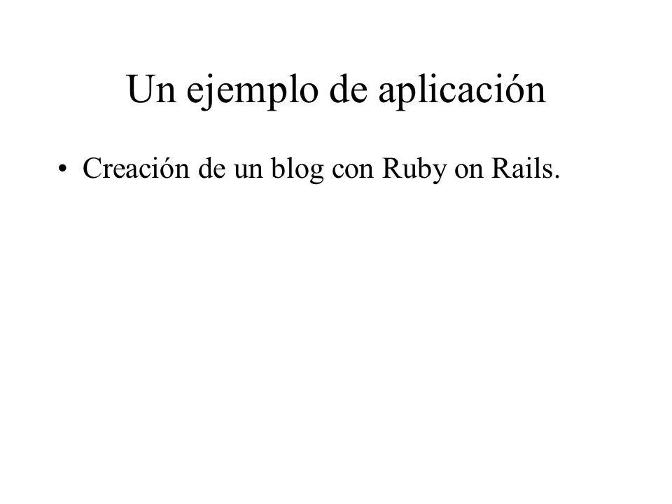 Un ejemplo de aplicación