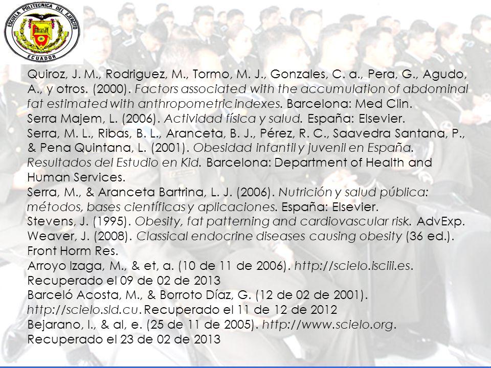Quiroz, J. M. , Rodriguez, M. , Tormo, M. J. , Gonzales, C. a