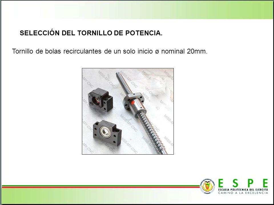 SELECCIÓN DEL TORNILLO DE POTENCIA.