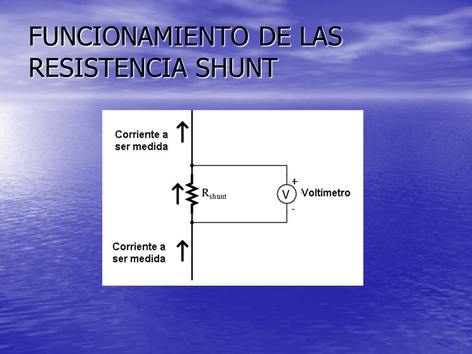 FUNCIONAMIENTO DE LAS RESISTENCIA SHUNT
