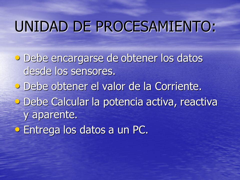 UNIDAD DE PROCESAMIENTO: