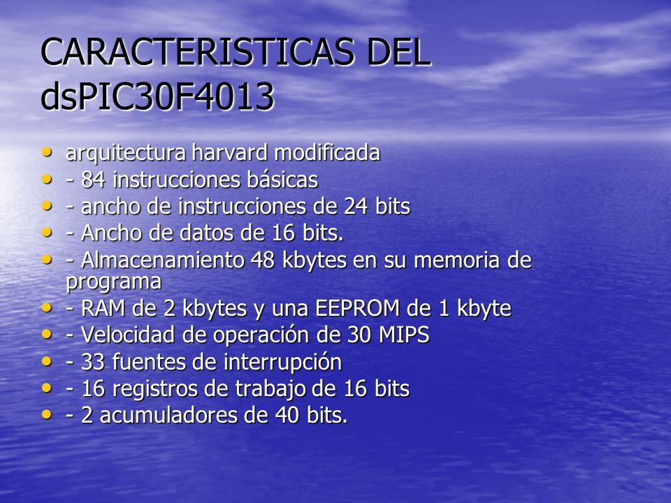 CARACTERISTICAS DEL dsPIC30F4013