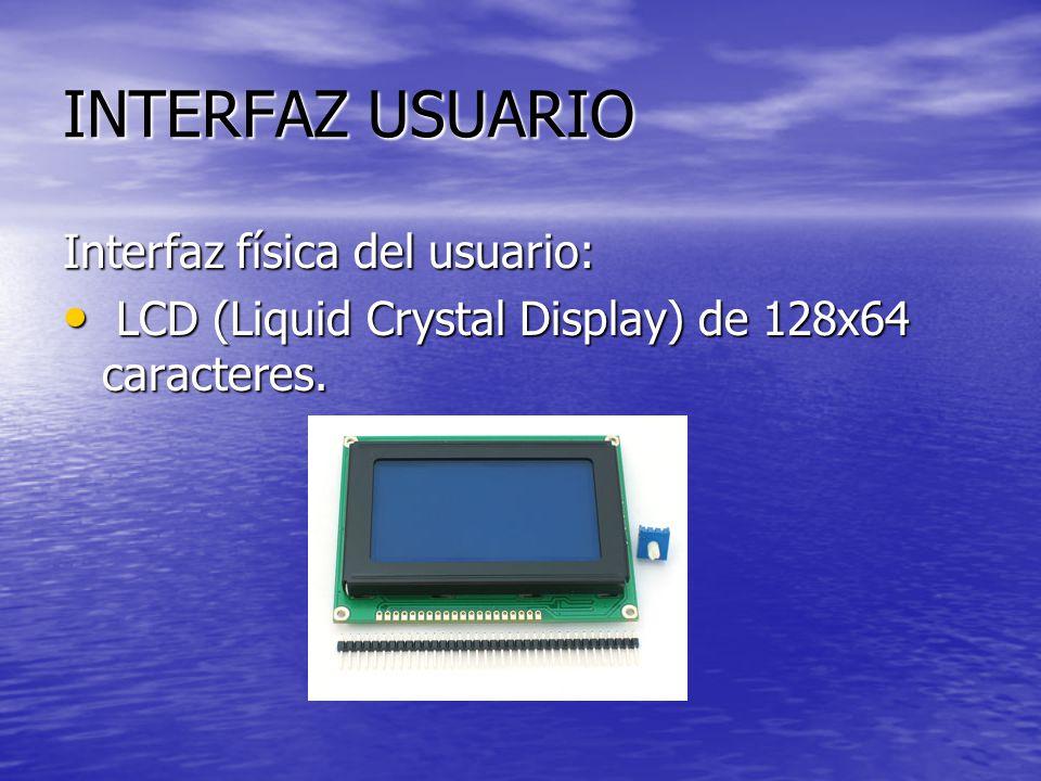 INTERFAZ USUARIO Interfaz física del usuario: