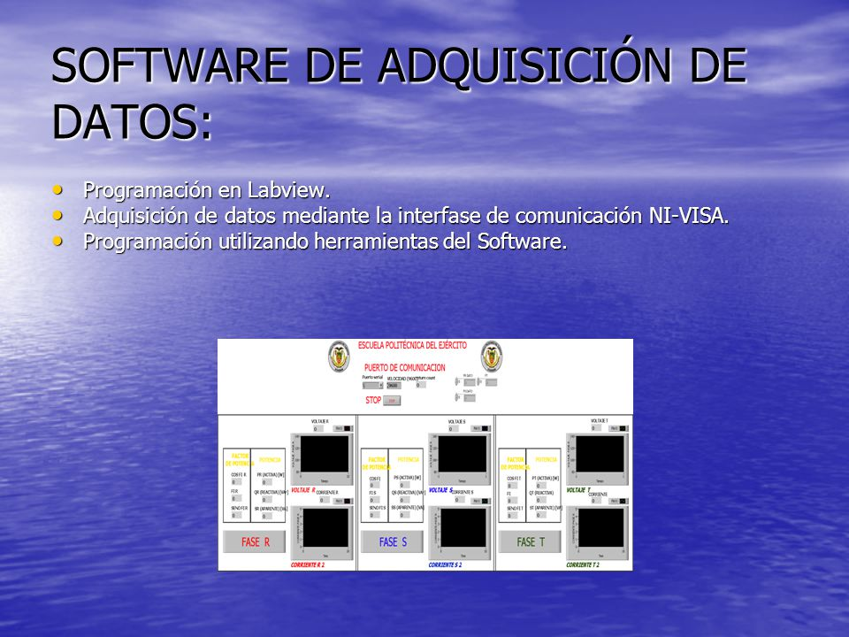 SOFTWARE DE ADQUISICIÓN DE DATOS: