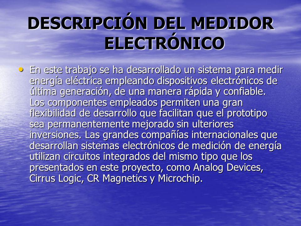 DESCRIPCIÓN DEL MEDIDOR ELECTRÓNICO