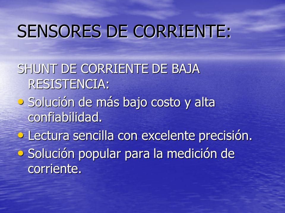 SENSORES DE CORRIENTE: