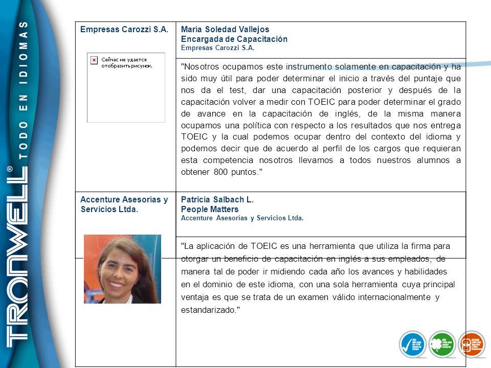 Empresas Carozzi S.A.María Soledad Vallejos Encargada de Capacitación Empresas Carozzi S.A.