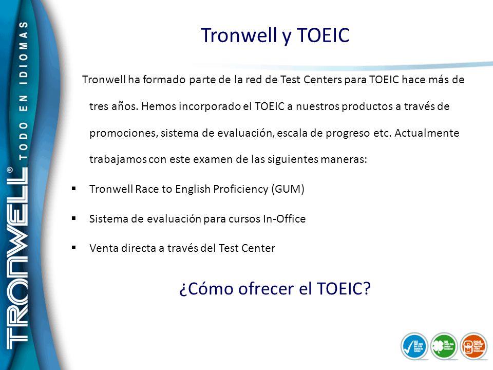 Tronwell y TOEIC ¿Cómo ofrecer el TOEIC