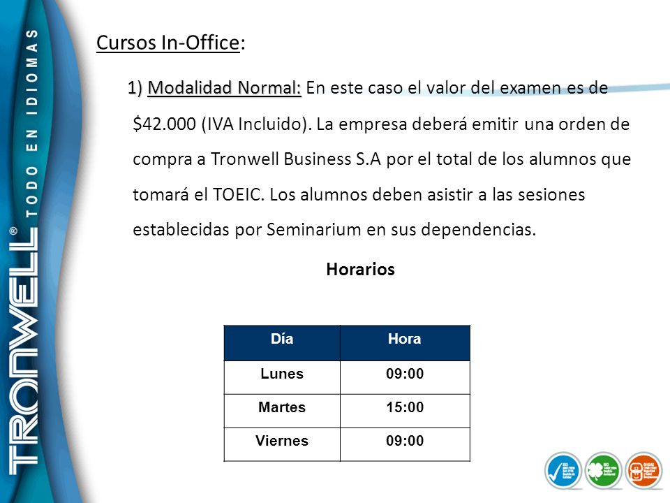 Cursos In-Office:
