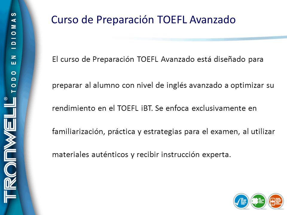 Curso de Preparación TOEFL Avanzado
