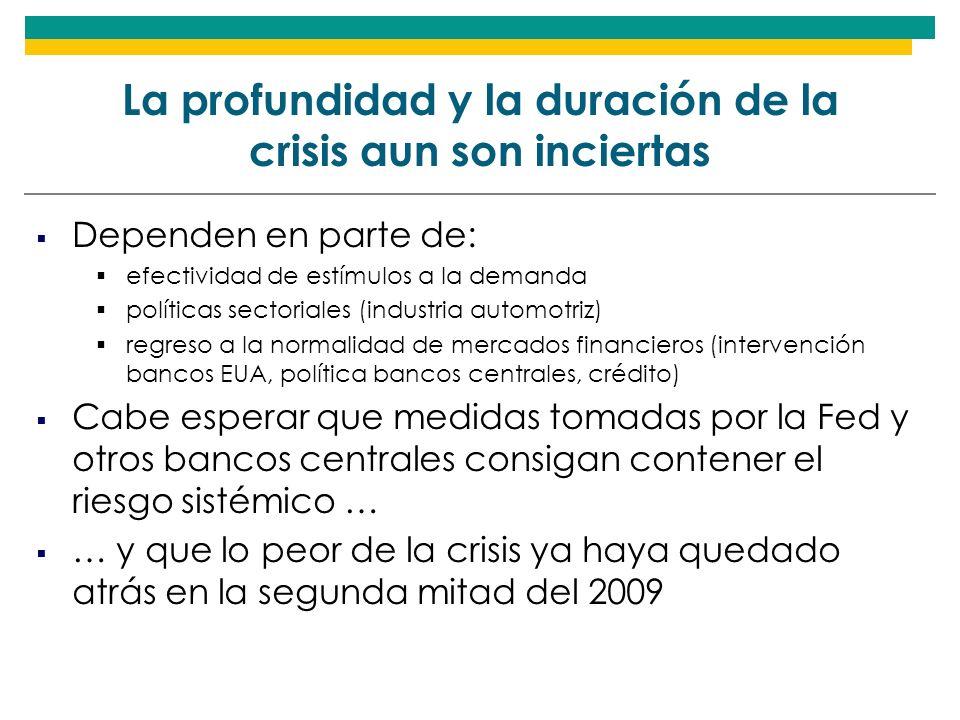 La profundidad y la duración de la crisis aun son inciertas