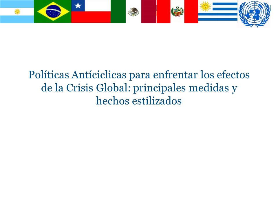 Políticas Antíciclicas para enfrentar los efectos de la Crisis Global: principales medidas y hechos estilizados